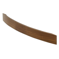 BIG BOW Cabinet Handle - 192mm - Wood Walnut Lacquered Colour