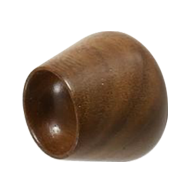 FLOWER BUD XS Cabinet Knob   34mm   Wood Walnut Lacquered Colour