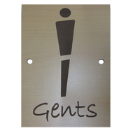GENTS Signage - 6X9 Inch - Light Wood Finish
