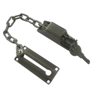 Door Chain With Lock - Stainless Steel Finish