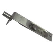 Flush Tower Bolt Button Type - 4Inch - Stainless Steel Finish