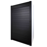 Glass Rolling Shutter - 600X1500mm - Black Satin Finish