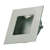 INN - Cabinet Flush Knob - Inox Look Fi