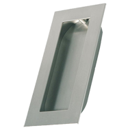 INN - Cabinet Flush Handle - Inox Look Finish - 128mm