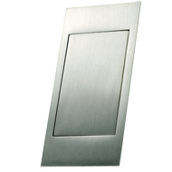 PUSH - Cabinet Flush Handle - Bright Chrome Finish - 96mm