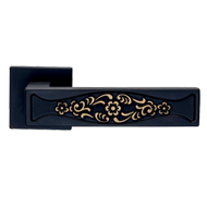 Bassorilievo Mortise Door Handle - Brunoro Finish