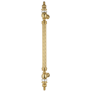 OTELLO Swarovski Door Pull Handle - 600mm - French Gold Finish