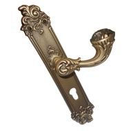 BRILLIANT Diam Mortise Handle on Plate Rococo - 8x85 - Patine Matt Finish