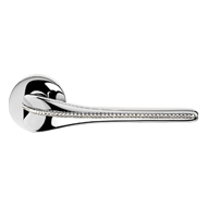 SPIRIT Mesh Crystal Mortise Handle on Rose - Chrome Finish