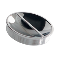 BELT - Cabinet Flush Knob - Bright Chrome Finish - 72mm