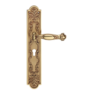 QUEEN Small Mortise Handle on Plate - F