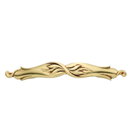 Vintage Cabinet Handle - 128mm - French Gold Finish