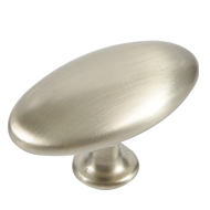 Oval Furniture Knob in Stainless Steel