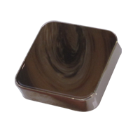 Cabinet Knob - Horn/Chrome Plated Finis