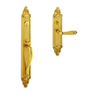 New York American Entrance Set - Old Gold Finish