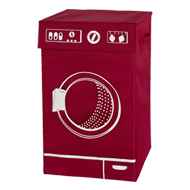 LAVO Laundry Bin - Red Colour