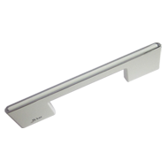 Cabinet Handle - 128mm - White/Chrome Plated Finish