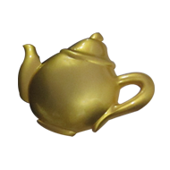 Kettle Cabinet Knob - Matt Gold Finish - 50X40X25mm