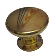 Cabinet Knob - Veneer/Gold Finish - Dia