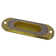 Flush Cabinet Handle - Gold/Silver  Fin