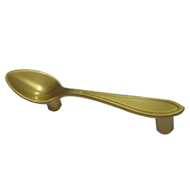 Spoon Cabinet Handle - Royal Gold Finish - CC:75mm Overall:115mm