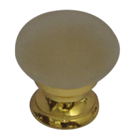 Cabinet Knob (Small) - Gold/Crystal Fin