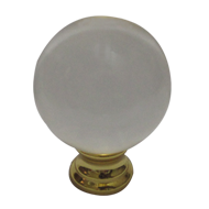 Round Cabinet Knob(Small) - Gold/Clear