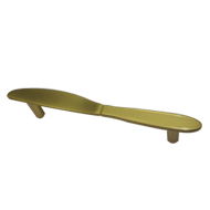 Knife Cabinet Handle  - Royal Gold Finish - CC:100mm - Overall:130mm