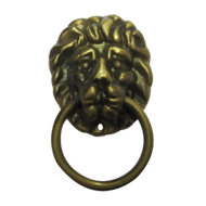 Lion Face Cabinet Pull - Antique Finish - 60X50X25mm