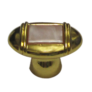 Cabinet Knob - Light Pink MOP/Gold Fini
