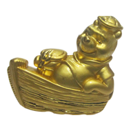 Teddy Bear Furniture Knob in Gold Finis