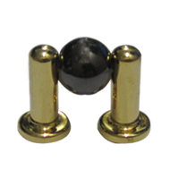 Cabinet Knob - Black Nickel/Gold Finish
