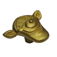 Cartoon Cabinet Knob - Matt Gold Finish