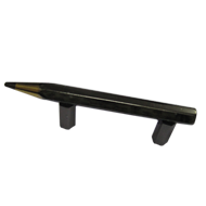 Pencil Cabinet Handle  - Black Colour  -  CC:40mm - Overall:75mm