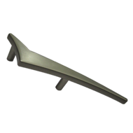 Cabinet Handle (Right Sign)  - Matt Silver Finish  - CC:70mm - Overall:150mm