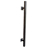 Door Pull Handle - Length : 600mm - Strong Black Finish