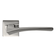 ASTRID Lever Handle on Rose - Satin Nic
