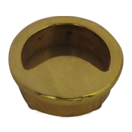 Flush Cabinet Knob - Gold Finish - 40X4