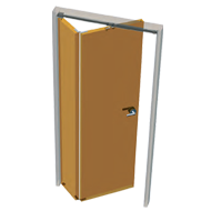 Asymmetric Folding Door Fitting - Kit for One Folding Door Divided in two different