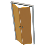 Symmetric Folding Door Fitting - Kit for One Folding Door Divided in two Equal parts