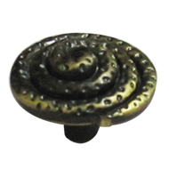Round Knob - Antique Finish