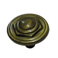 Cabinet Knob - Antique Finish - Dia : 25mm, H : 25mm