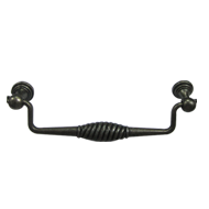 Cabinet Handle - Antique Grey Finish -: