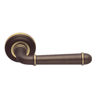 HARTU Lever Handle on Rose - Matt Bronz