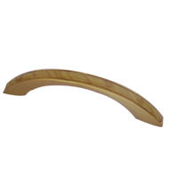 Cabinet Handle  - Beech/Gold Finish  - CC:92mm- Overall:115mm