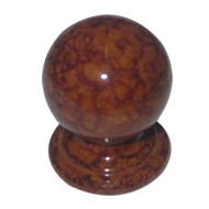 Cabinet Knob - Brown Teak Wood Finish - Dia : 20mm, H : 25mm