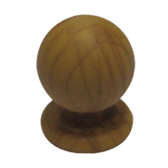 Cabinet Knob - Teak Wood Finish - Dia :