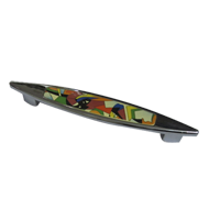 Cabinet Handle - Multicolour/Chrome Plated Finish - CC:160mm - Overall:200mm