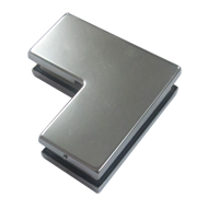 Glass Patch Fitting - Small L Type - Stainless Steel Finish