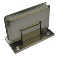 Wall To Glass Shower Hinges - Stainless steel Finish